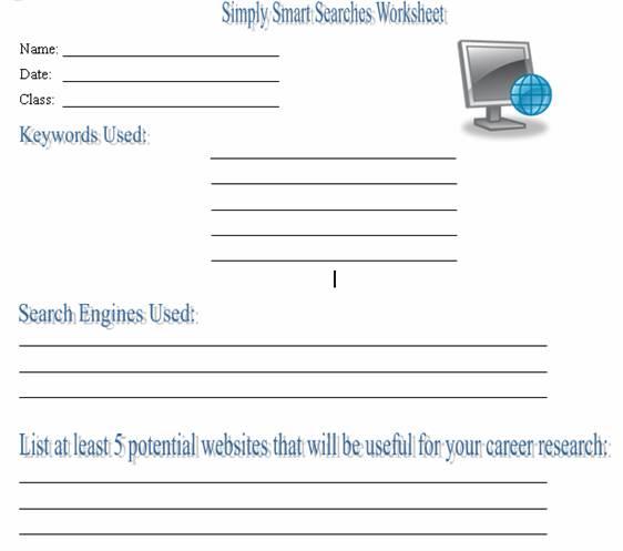 Create Builder – Job Search Worksheet